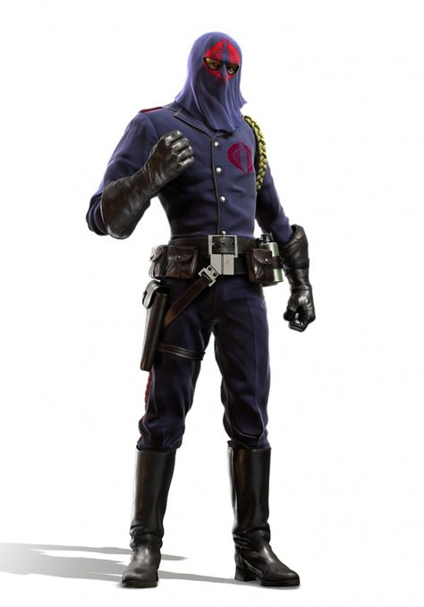 Digital Illustration of Cobra Commander, Leader of the Cobra Force enemy of the G. Joes, illustrated by JeffMiller