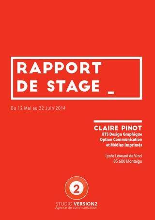 Rapport De Stage Book Layout Design Graphique Rapport De Stage