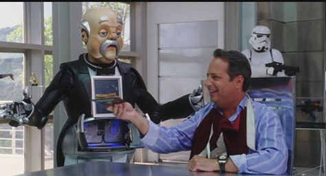 Robot Number Seven owned by Mel (Jon Lovitz) and played by Doug Jones in The Benchwarmers, 2006.