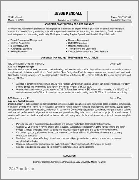 27 Assistant Project Manager Resume Project Manager Resume Resume Objective Examples Manager Resume