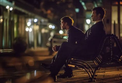 Klaus And Elijah On A Bench In The Vampire Diaries Spin Off The Originals Vampire Diaries Seasons Vampire Diaries Spin Off Vampire Diaries Spoilers