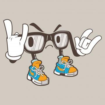 Cool Nerd Glasses Mascot Png And Vector Nerd Glasses Mascot Vintage Frames Vector