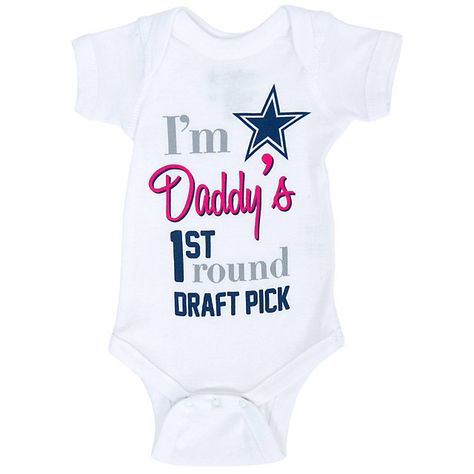 Dallas Cowboys Infant 1st Pick Bodysuit Kids Clothes Baby