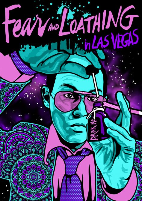 A0 A2 A4 Sizes A1 A3 Fear and Loathing in Las Vegas Vintage Movie Poster