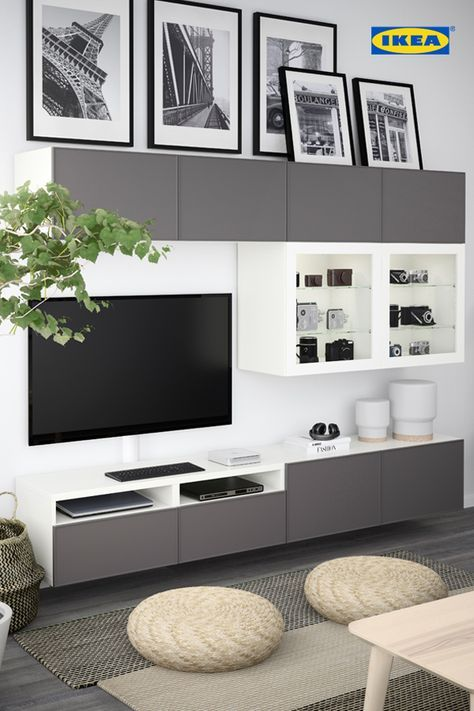 Meubles Et Articles D Ameublement Inspirez Vous Ikea Living Room Small Living Room Ideas With Tv Living Room Tv Wall