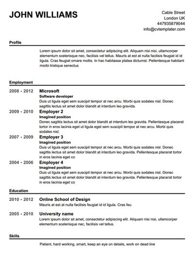 Completely Free Resume Builder Template Learnhowtoloseweight