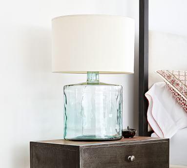 Mallorca Recycled Glass Table Lamp Potterybarn Table Lamp Wood Lamp Table Lamp Base