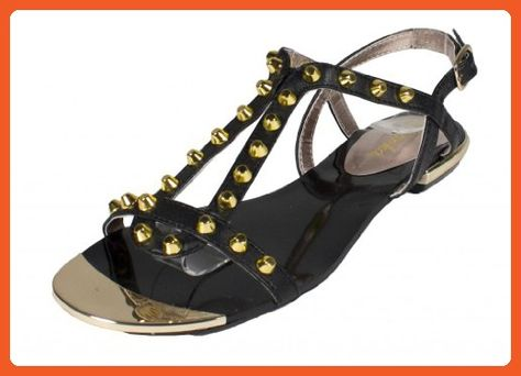 Lucy! By Paprika Trendy and Comfy Cone Studded Open Toe Flat