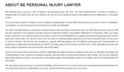 Aurora Injury Lawyer - BE Personal Injury Lawyer (800) 532-8704