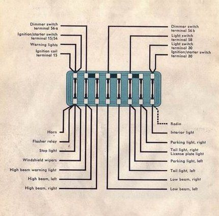 air cooled vw wiring diagram volky  volky