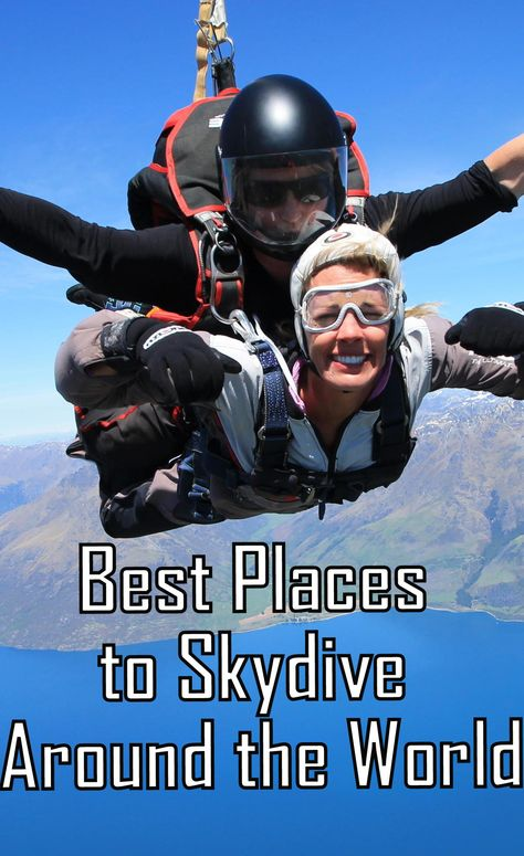 The best destinations for skydiving around the world! ---> http://www.mappingmegan.com/best-places-to-skydive-around-the-world/
