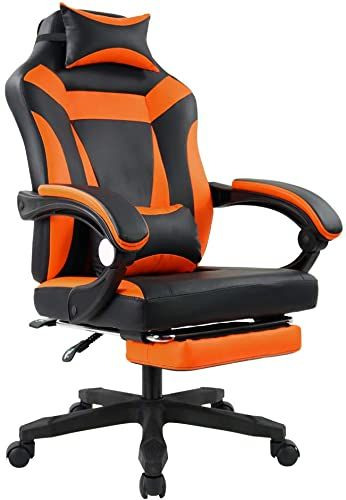 Enjoy Exclusive For Kktoner Ergonomic Gaming Chair E Sport Racing Computer Swivel Height Adjustable Armrest High Back Headrest Lumbar Support Orange Online In 2020 Headrest Height Adjustable Lumbar Support