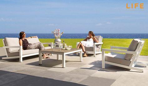 Lounge set Block wit Tuinmeubel Collectie LIFE Outdoor Living - outdoor mobel set tribu
