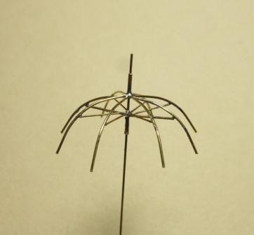 金属線を用いた1 35傘の製作概説 ミニチュアのチュートリアル 傘 半田付け