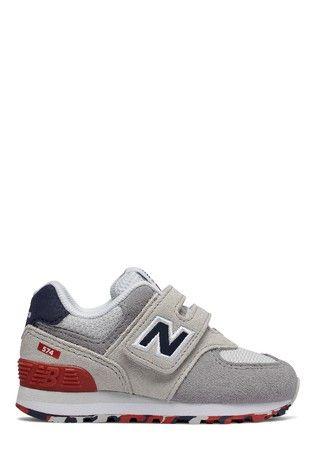 Grey New Balance 574 Infant Trainer