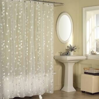 Excell  70 in W Light Blue  Glitter  Shower Curtain Liner H x 72 in