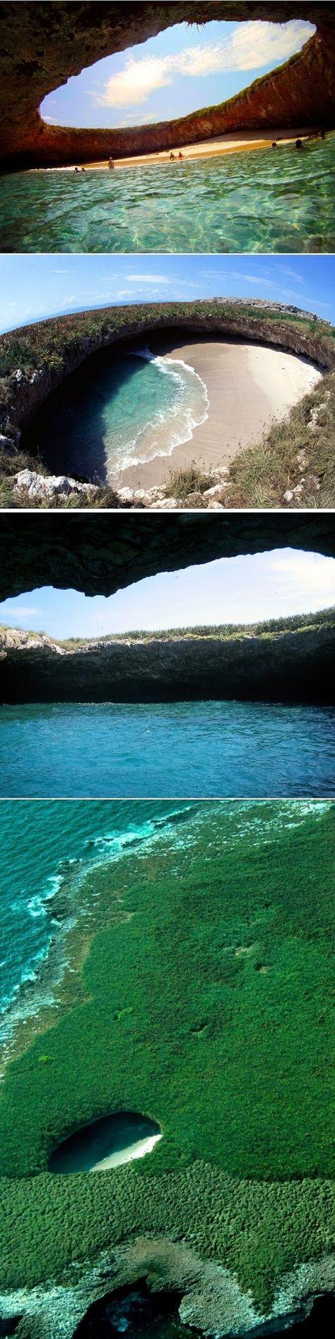 """[ To Go ] Hidden Beach - Puerto Vallarta, Mexico - Playa """"escondida"""" - Islas Marietas - costa de Puerto Vallarte, Mexico"""