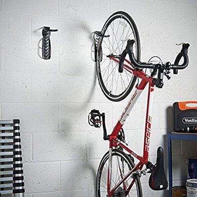 Vonhaus 2x Vertical Wall Mount Bike Cycle Storage Hooks Indoor