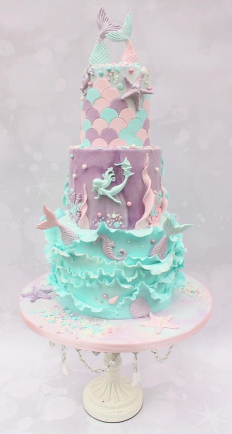 I really enjoyed making this three tiered chocolate cake for my friends daughter on her birthday