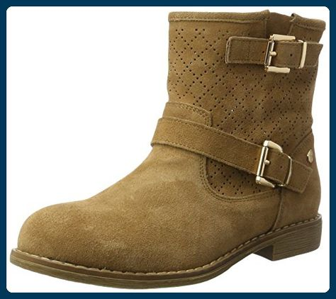 Ankle Damen Boots BootsschuheBeige Suede Ladies Xti Camel mn0wvN8O