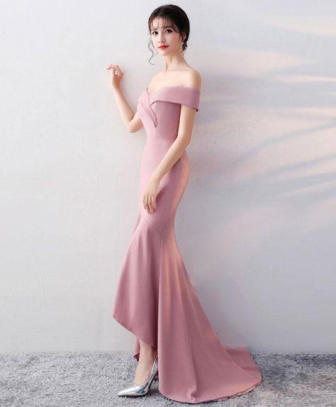 Simple v neck long prom dress, mermaid evening dress - us:2 / black
