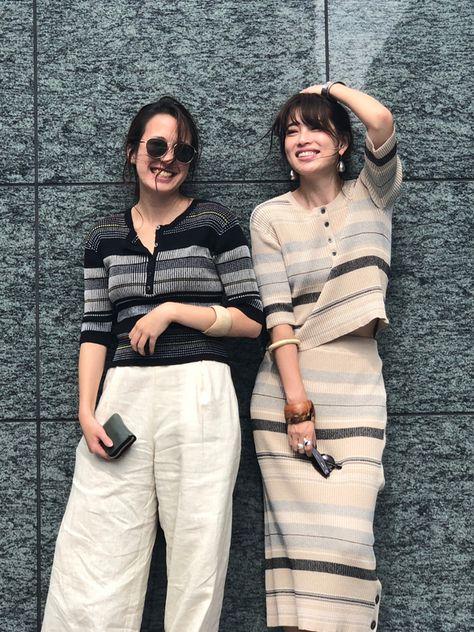 マルチボーダーヘンリーネックニット(F BEIGE): トップス │ ETRE TOKYO official online store(エトレトウキョウ)