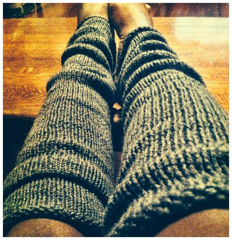 Free pattern for simple knit leg warmers designed and knit ...