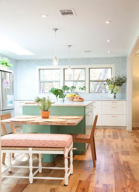 30 Kitchen Islands With Tables A Simple But Very Clever Combo Small Kitchen Tables Kitchen Island And Table Combo Kitchen Island Table Combination