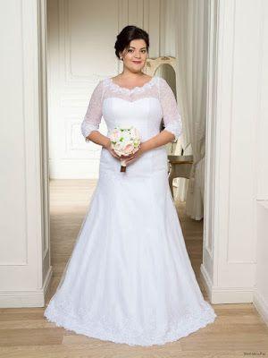 encontrar el precio más bajo elige auténtico 60% barato Vestidos de novia para gorditas y bajitas | Talla grande y ...