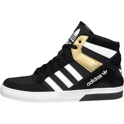 adidas Originals Womens Hard Court Block Hi Tops BlackWhite