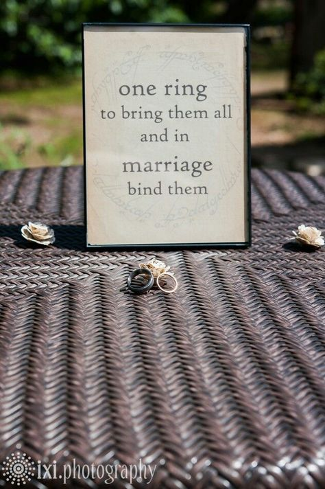 Lord of the Rings inspired wedding sign. A geek's life for me!