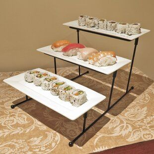 Longshore Tides Finlay Tiered Stand Wayfair In 2020 Serving Trays Stand Tiered Stand Tiered Serving Trays
