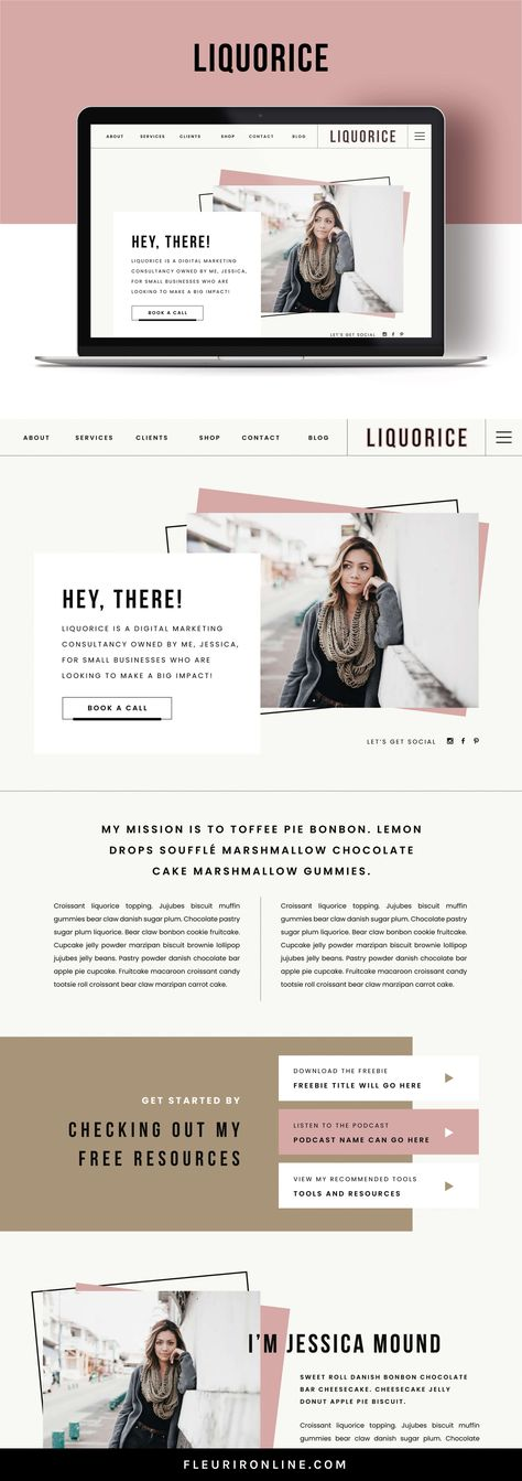 Showit Website Template for Creatives and Coaches