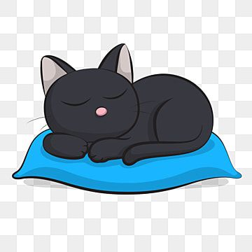 Black Cute Cat Sleep Blackcat Cat Cats Png And Vector With Transparent Background For Free Download Cute Cat Sleeping Cat Sleeping Cat Background