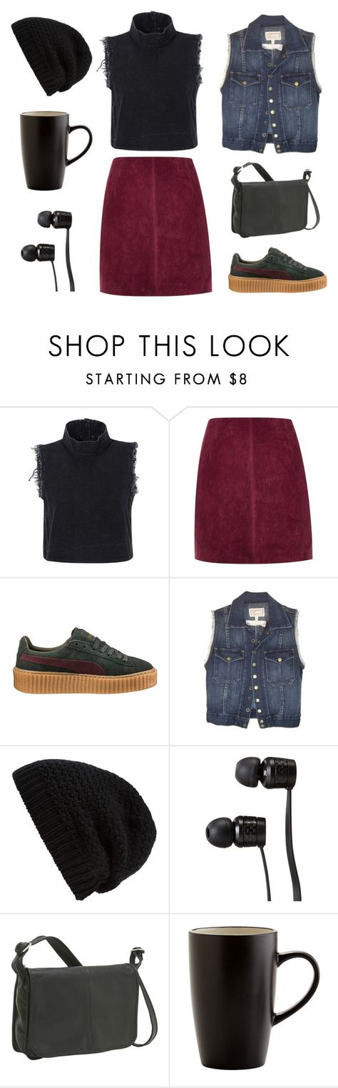 """music in my head"" by truedetective ❤ liked on Polyvore featuring Rachel Comey, River Island, Puma, Current/Elliott, Rick Owens, Vans, Le Donne and Pier 1 Imports"