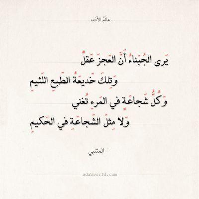 شعر المتنبي وحالات الزمان عليك شتى عالم الأدب Arabic Poetry Math Math Equations