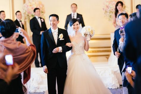 Photography: U Me Us Studios - umeusstudios.com  Read More: http://www.stylemepretty.com/california-weddings/2014/05/21/elegant-blush-gold-wedding-at-the-fairmont/