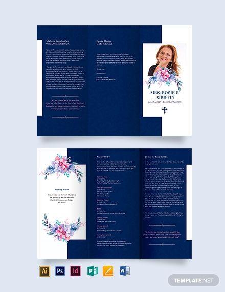 Catholic Funeral Prayer Tri Fold Brochure Funeral Prayers