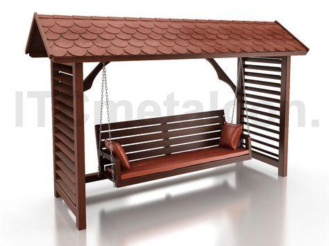 Hollywoodschaukel Mit Dach Holz Gartenschaukel Holzschaukel