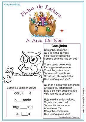 Ficha De Leitura Projeto Arca De Noe Vinicius De Moraes Com