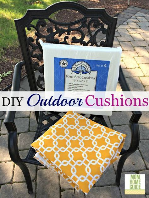 How To Make Inexpensive Outdoor Seat Cushions Super Easy Diy Patio Cushions Diy Outdoor Cushions Patio Cushions Outdoor