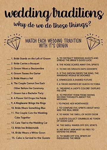 Wedding Traditions Game Bridal Shower Games Printable Bridal Etsy Wedding Traditions Game Bridal Shower Rustic Bridal Shower Decorations Rustic