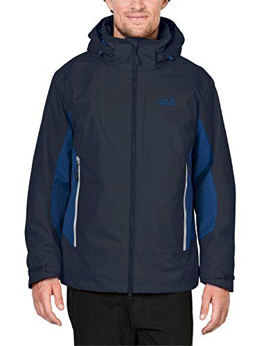 best loved 7d46a 25d2a Jack Wolfskin Kinder North Border 3-in-1 Jacke Night Blue S ...