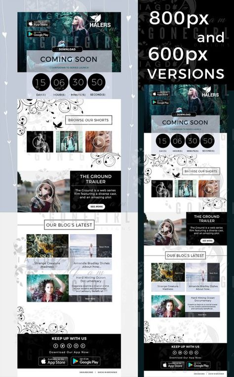 Photoshop Psd Email Template Mailchimp Email Psd Newsletter