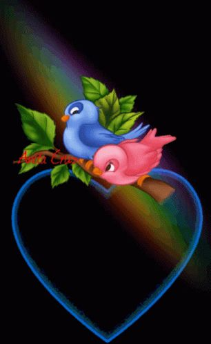 Bonjour ATout LHeure Bird GIF - BonjourAToutLHeure Bird Heart - Discover & Share GIFs