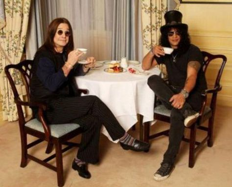 tea time with ozzy and slash