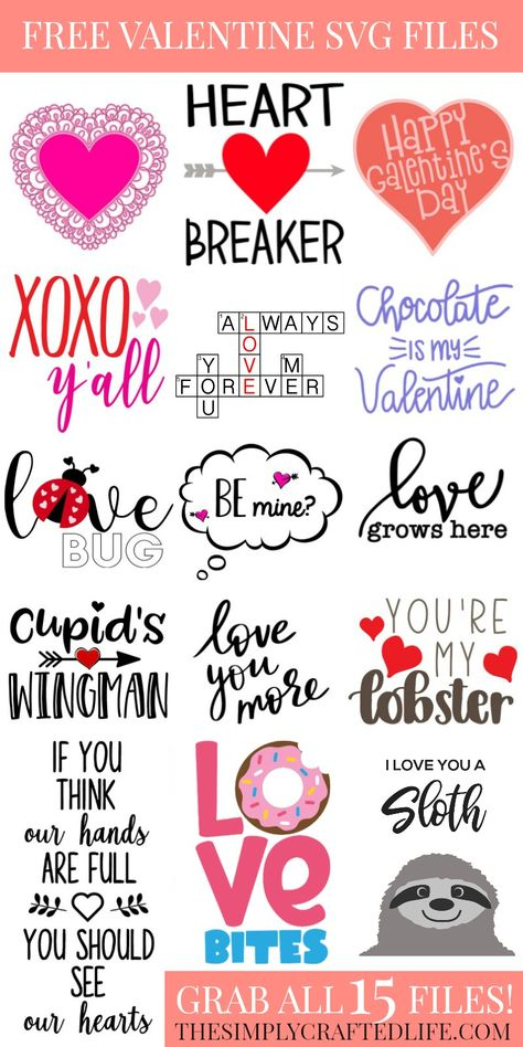 If you are looking for a free Valentine's Day SVG, you've hit the jackpot. See the post below for 15 free valentine's day svgs for you to download!