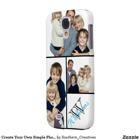 Create Your Own Simple Photo Collage w/Custom Name Samsung Galaxy S4 Cover