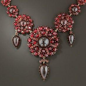Antique Garnet Necklace In Box Garnet Jewelry Vintage Jewelry Jewelry