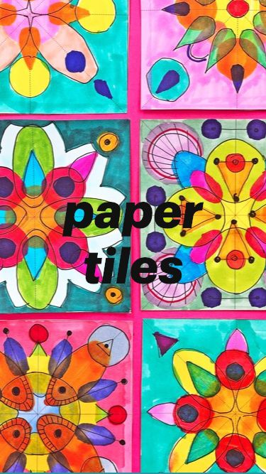 Cool Paper Tiles Art Project